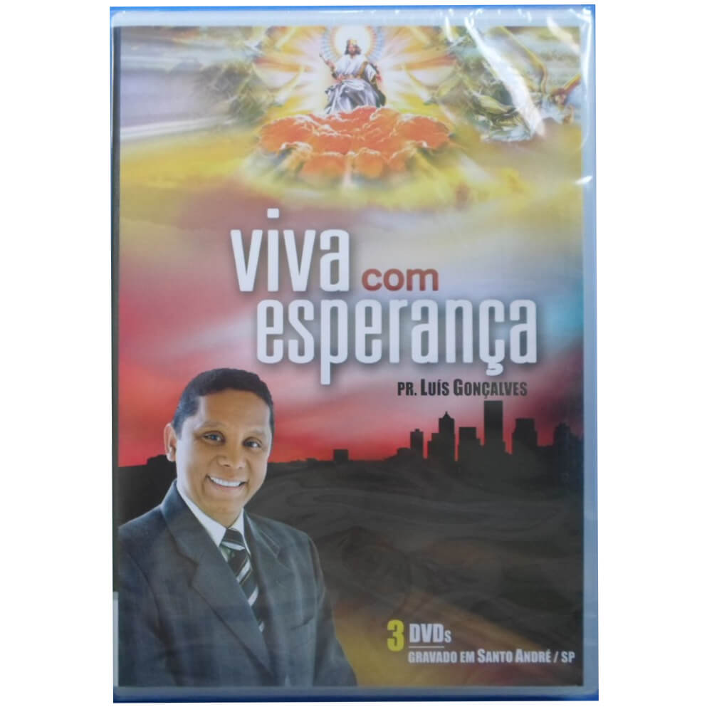 DVD Viva Com Esperança PR. Luis Gonçalves Gravadora Novo Tempo