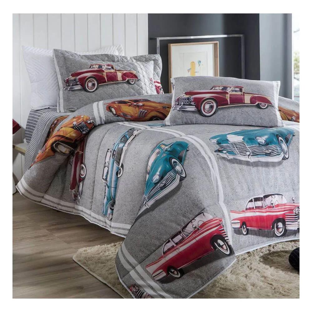 Jogo de Lençol Solteiro Infantil 3 Peças 140 Fios Happy Day Cars