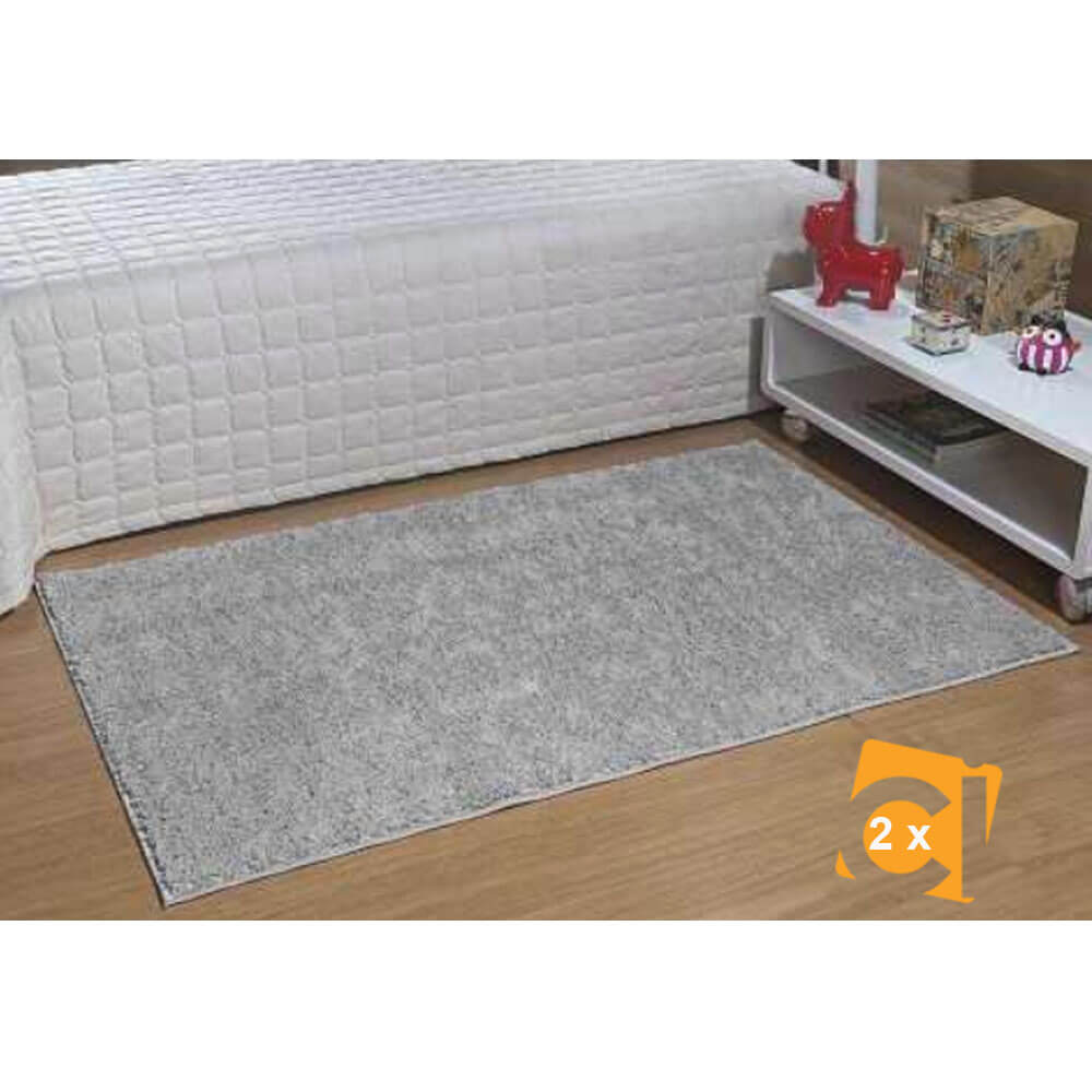 Jogo de Passadeiras 50 x 100 cm Classic 2 peças Cinza