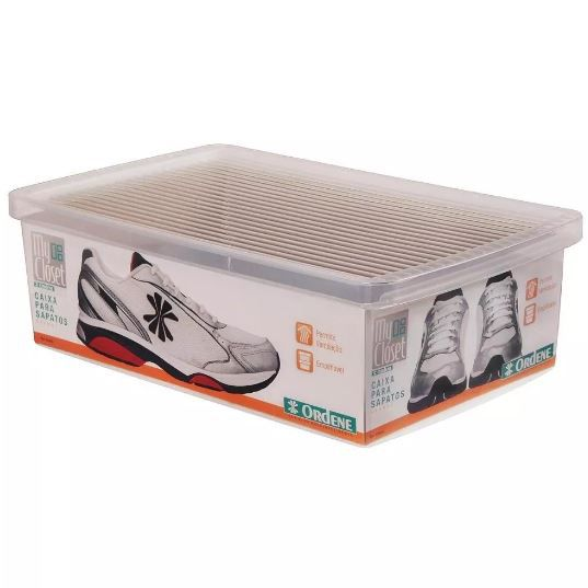 Kit 10 Caixa Organizadora Grande Ordene A11 X L23,5 X P35,5