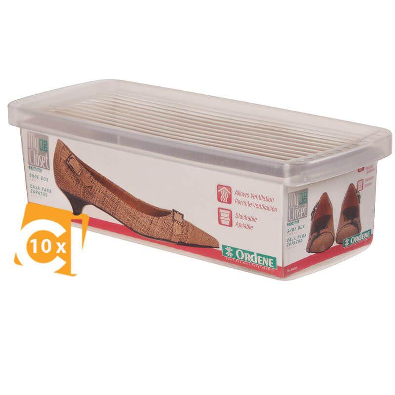 Kit 10 Caixa Organizadora Pequena Ordene 12,8 x 30,5 x 9 60000