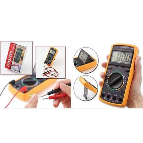 Kit 10 Multímetro Digital Aviso Sonoro Leitor Lcd + Capa GC-9205