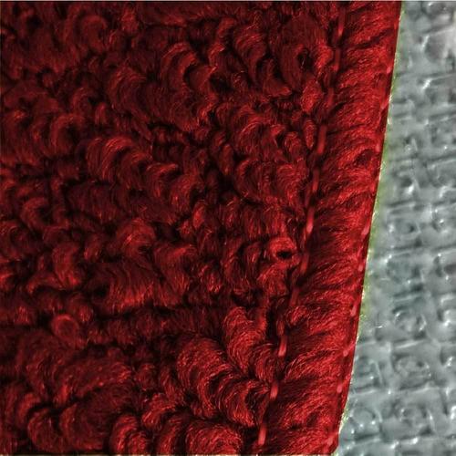 Kit 12 Jogos de Banheiro Vermelho Relevo Tapetes Oasis