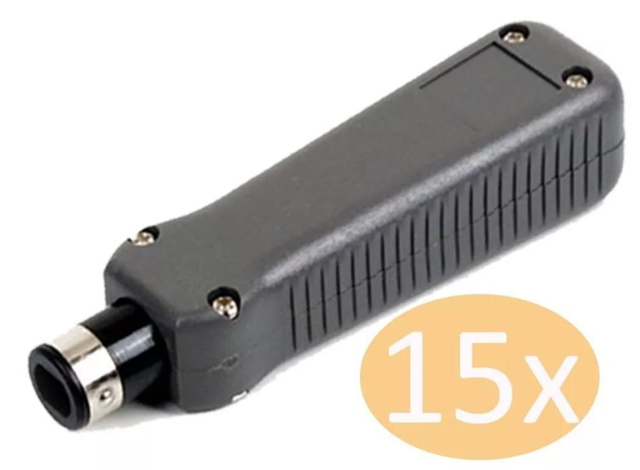 Kit 15 Alicate Punch Down Inserção Impacto Rj45 Femea Ht-324