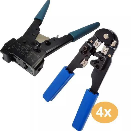 Kit 1 Alicate Ht-4023 Amp E 4 Hy-210c Para Conector Rj45