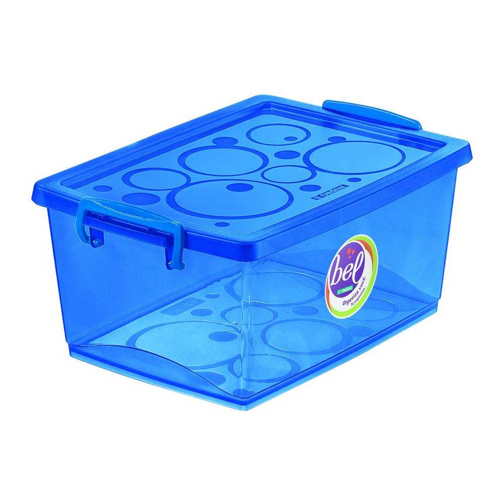 Kit 2 Caixas Organizadora Com Trava Azul 30 Litros Ordene