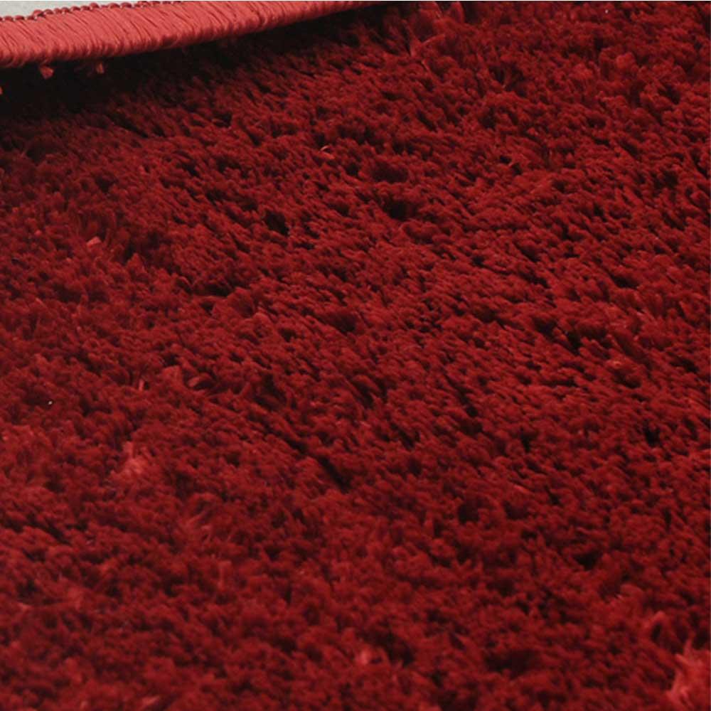 Kit 2 Jogo Tapete Banheiro Classic 3 Peças Vermelho  E Preto