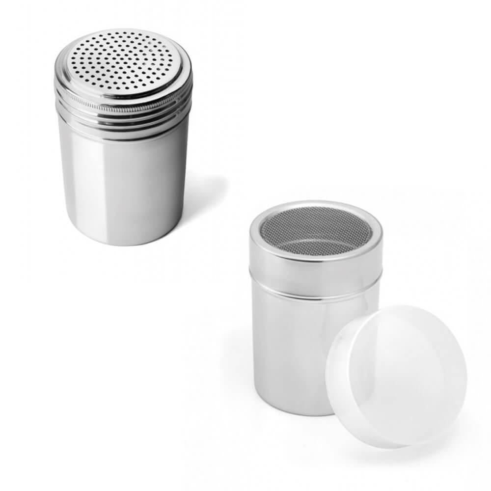 Kit 2 Potes Dispenser para Tempero Inox Attuale
