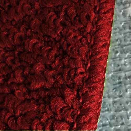 Kit 2 Tapetes Cozinha Relevo 3 Peças Cada Vermelho/ Preto