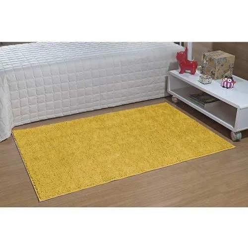 Kit 2 Tapetes Passadeira Classic 50 x 100 cm Amarelo Canário