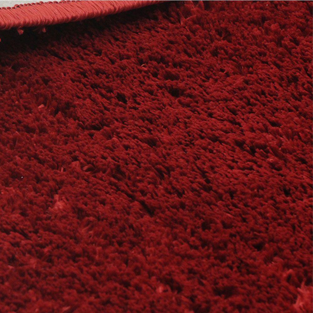 Kit 2 Tapetes Redondo Classic 100 cm 1 Amarelo e 1 Vermelho Cereja Tapetes Oasis