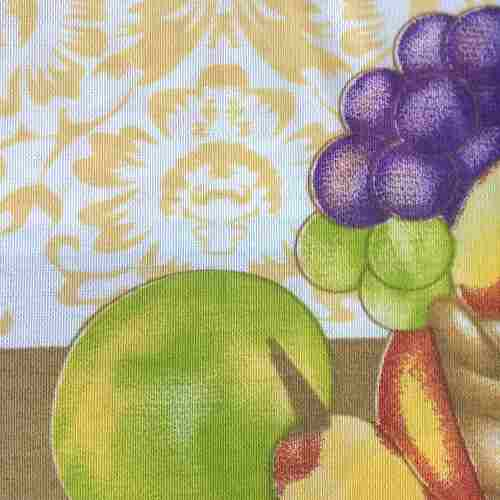 Kit 3 Cozinha Cortina 200x150 2 Toalha De Mesa 220x145 Fruta
