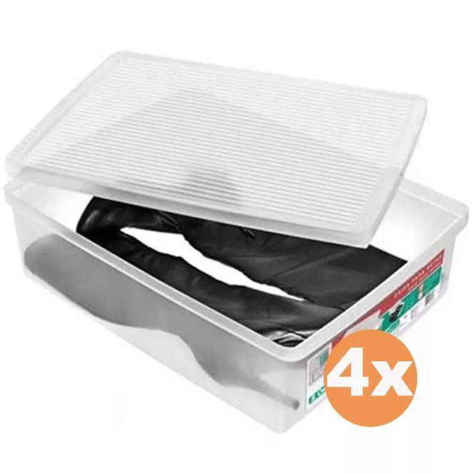 Kit 4 Caixa Organizadora Ordene Extra Grande Para Botas