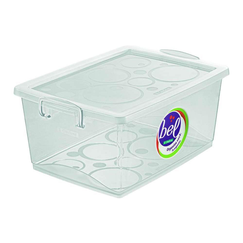 kit 4 Caixas Organizadoras Com Trava 30L Cristal Ordene