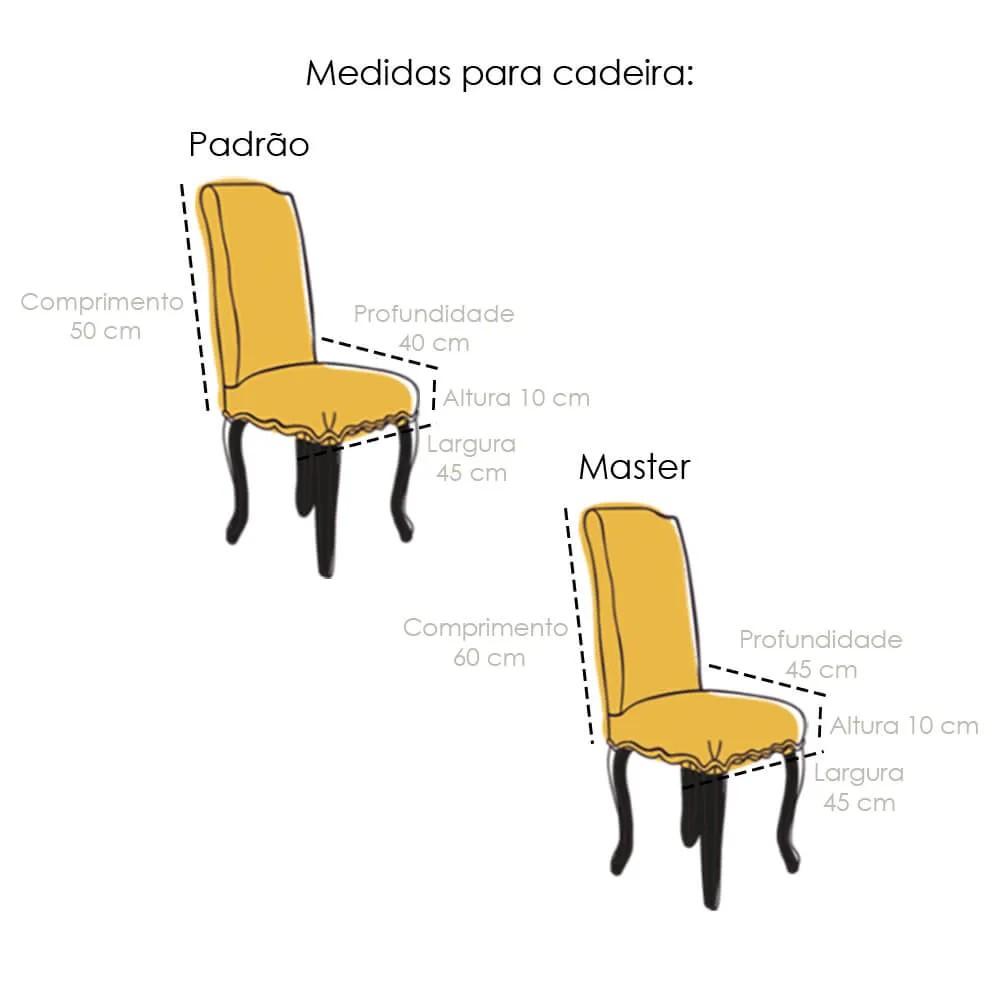 Kit 4 Capa de Cadeira Master Estampada Botanica Sultan
