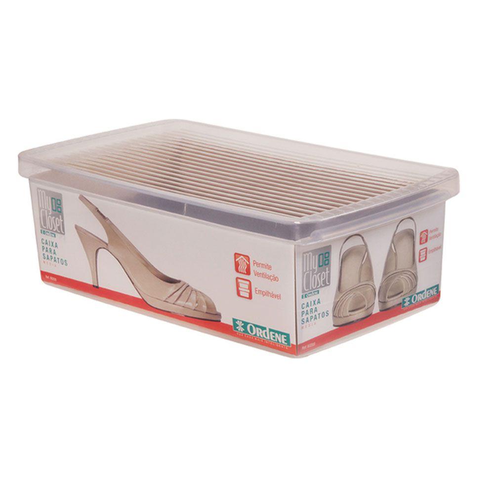 Kit 5 Caixa Organizadora Sapato Pequena 5 Caixa Media Ordene