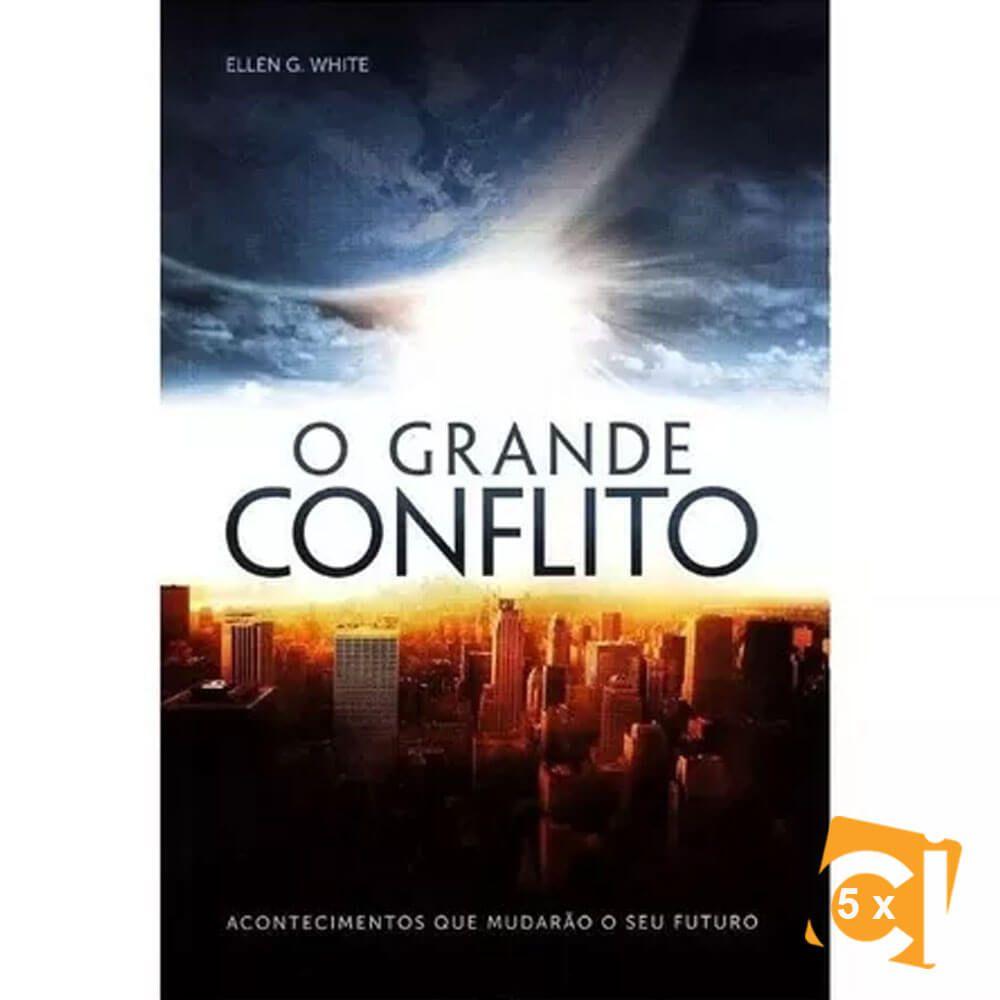 Kit 5 Livros O Grande Conflito Brochura CPB Ellen G. White