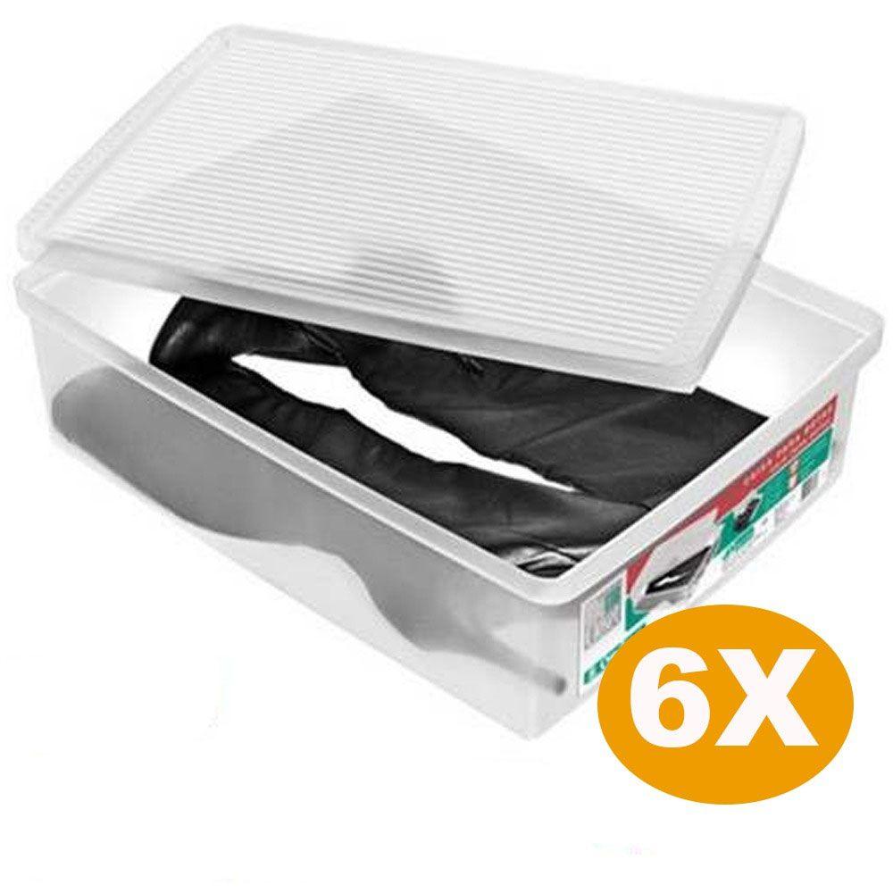 Kit 6 Caixa Organizadora Ordene Extra Grande Para Botas