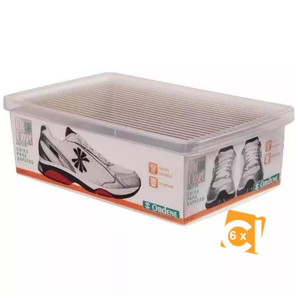 Kit 6 Caixa Sapato Grande Ordene - OR60400