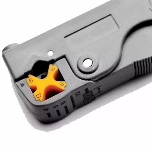 Kit Alicate Crimpa Decapa Coaxial Testador E 10 Conector Rg6