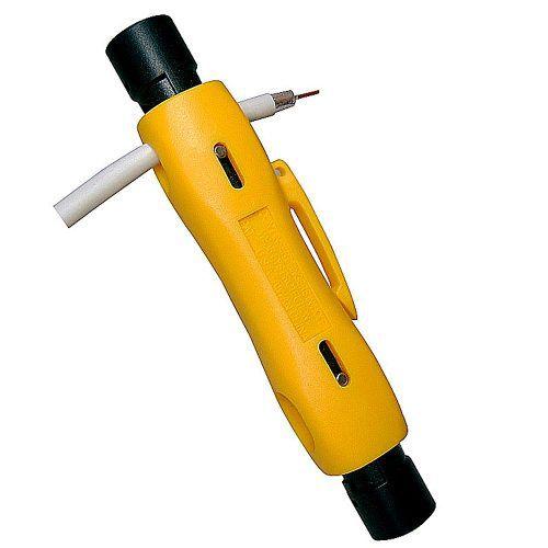 Kit Alicate Crimpar H518A1 Decapador Cabo Coaxial HY-323 e 50 Conector RG6