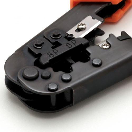 Kit Alicates Crimpar Rg6 Rg59 Rj45 Rj11 Testador Bnc Rj45 + 50 RG6