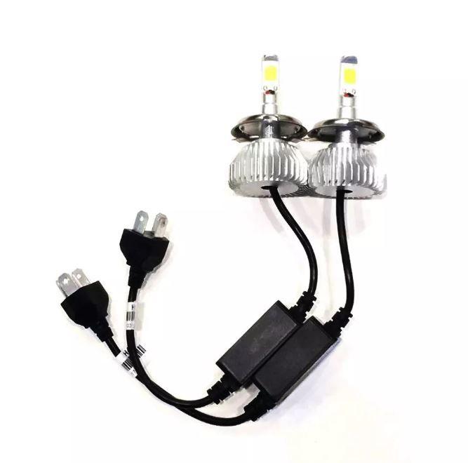 Par Lampadas Super Led Xenon H4 6000 k 4400 Lumens