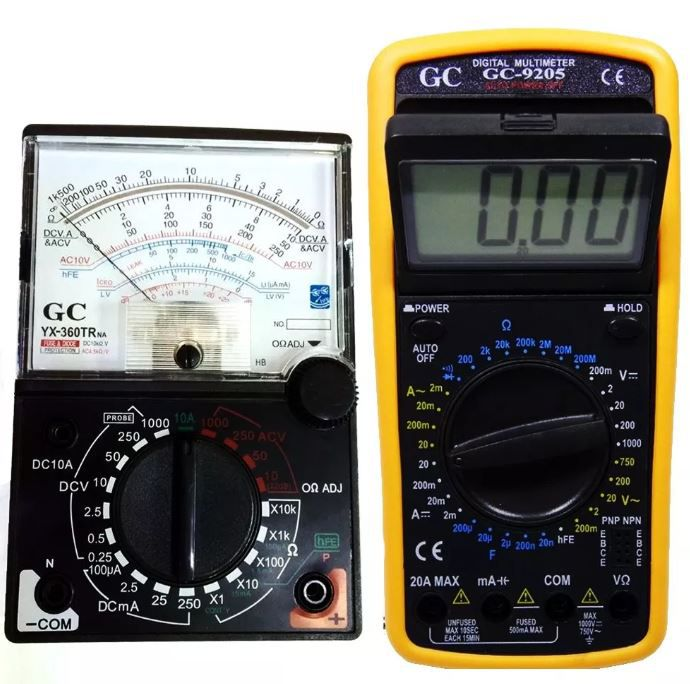 Kit Multímetro Digital Gc-9205 Analógico Yx-360trn-a