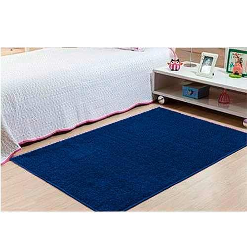 Kit Tapete Passadeira Classic 1 50x100 E 1 50x200 Azul Jeans