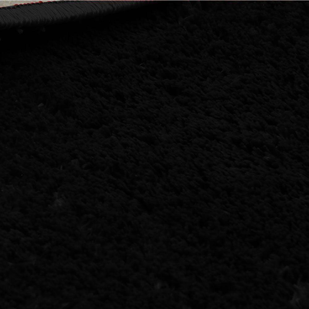 Kit Tapete Preto Classic 1 Redondo 100 cm e 1 Retangular 200 x 300 cm Tapetes Oasis