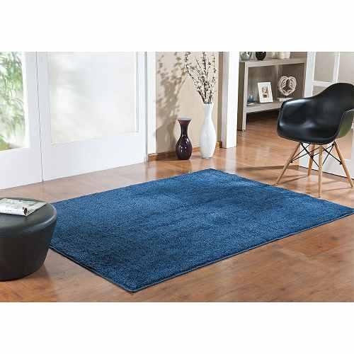Kit Tapete Redondo Sala Quarto Jeans 100x100 E 100x150