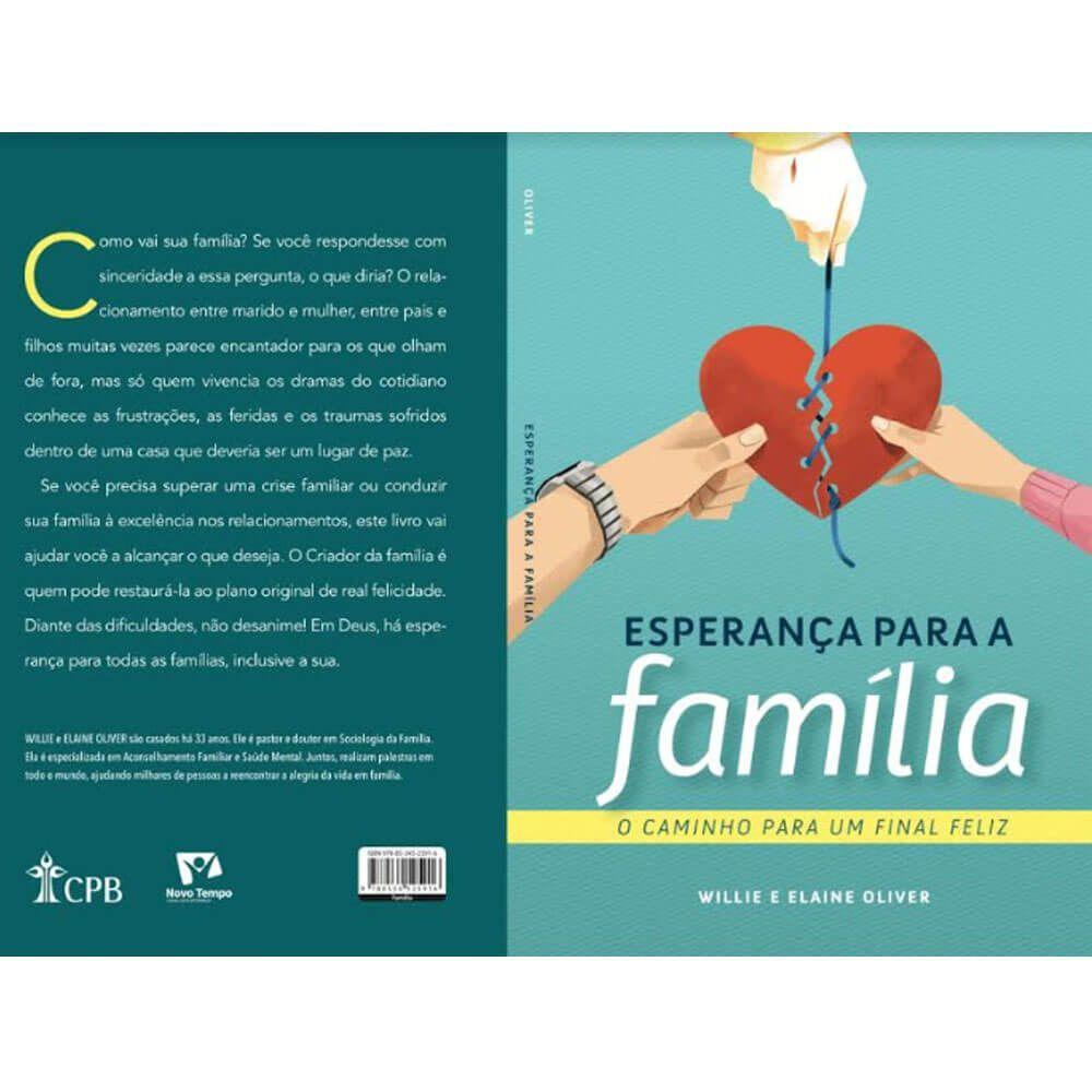 Livro Esperança para a Família CPB Willie e Elaine Oliver