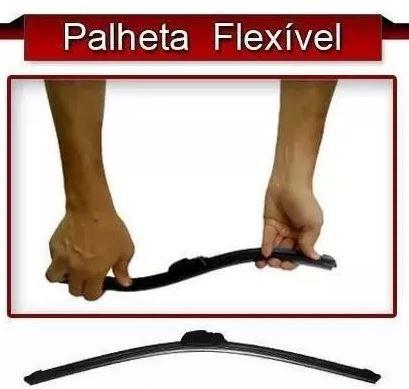 Lote 17 Palheta Flexível Silicone Limpador Parabrisa