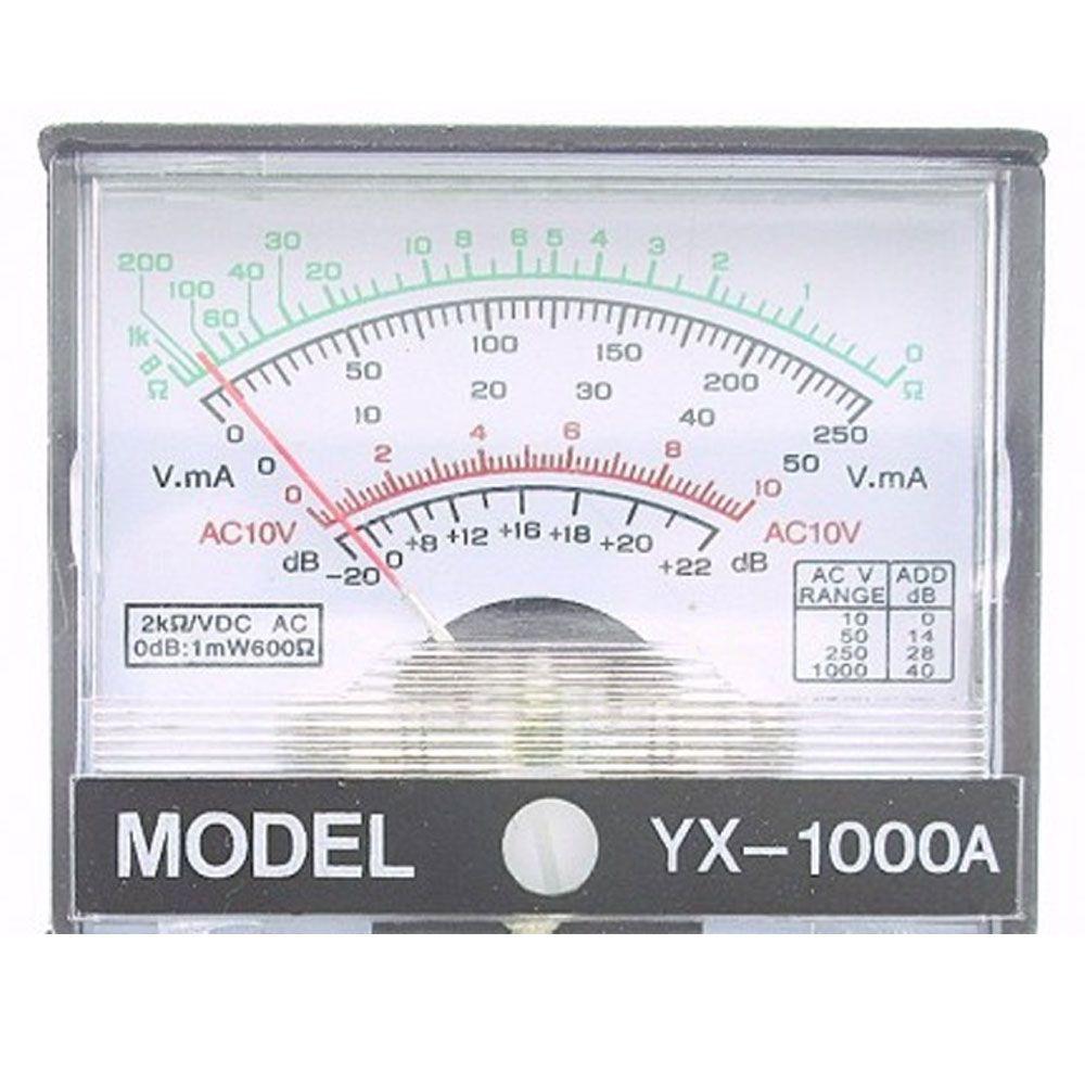 Mini Multímetro de Bolso YX-1000A Analógico