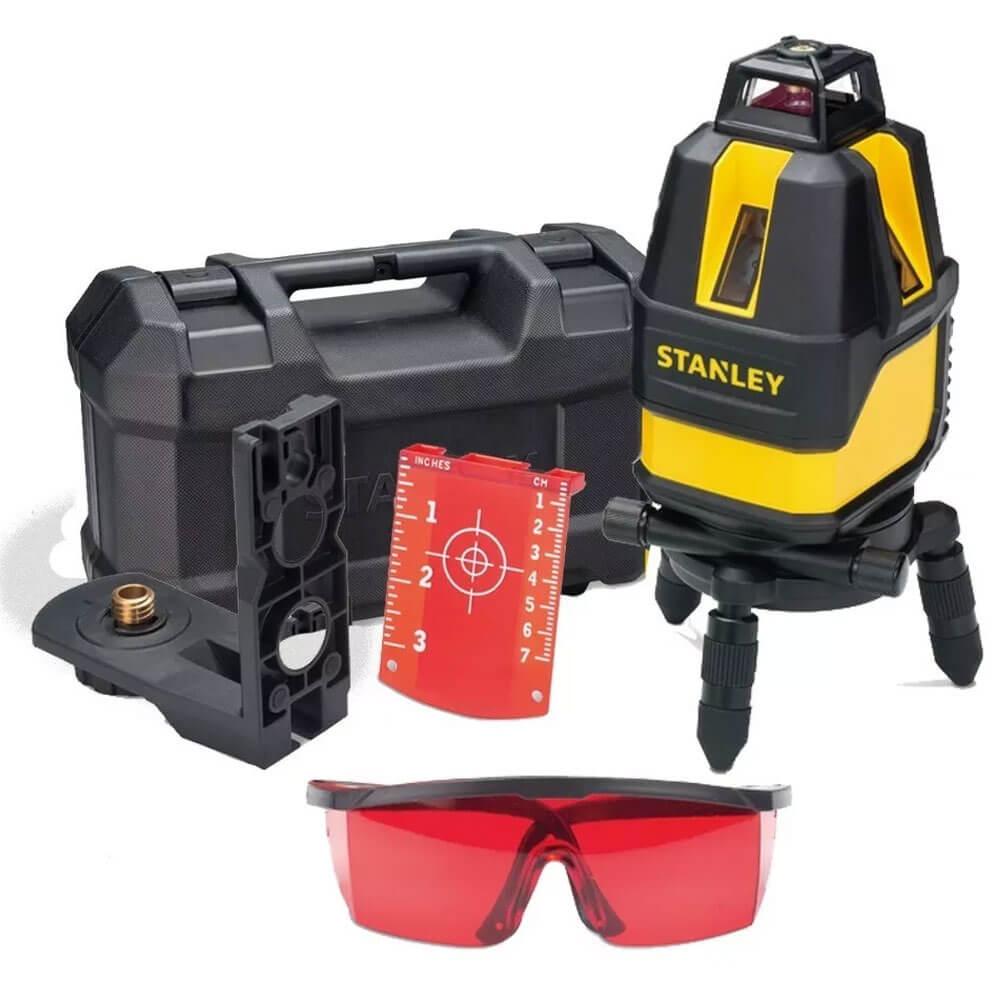 Nível Laser a 360°C Multi-linhas 10M de Alcance Com Maleta e Acessórios Stanley STHT77521