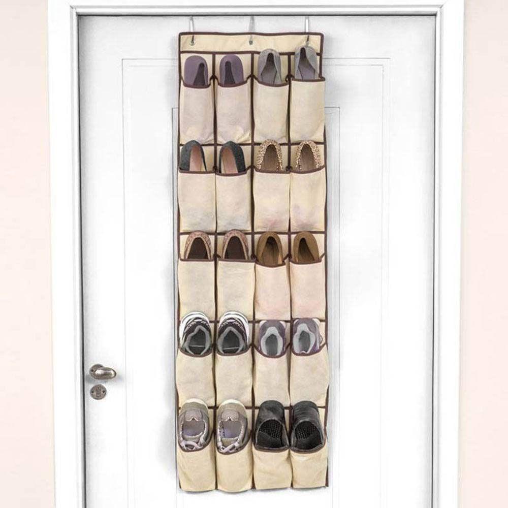 Sapateira com 20 Divisórias para Porta Organizador de Sapatos Bege Ordene
