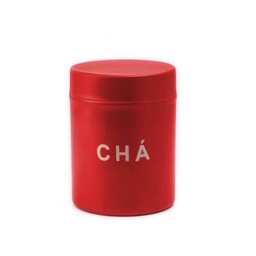 Pote para Chá 0,8 L Aço Inox Vermelho Attuale