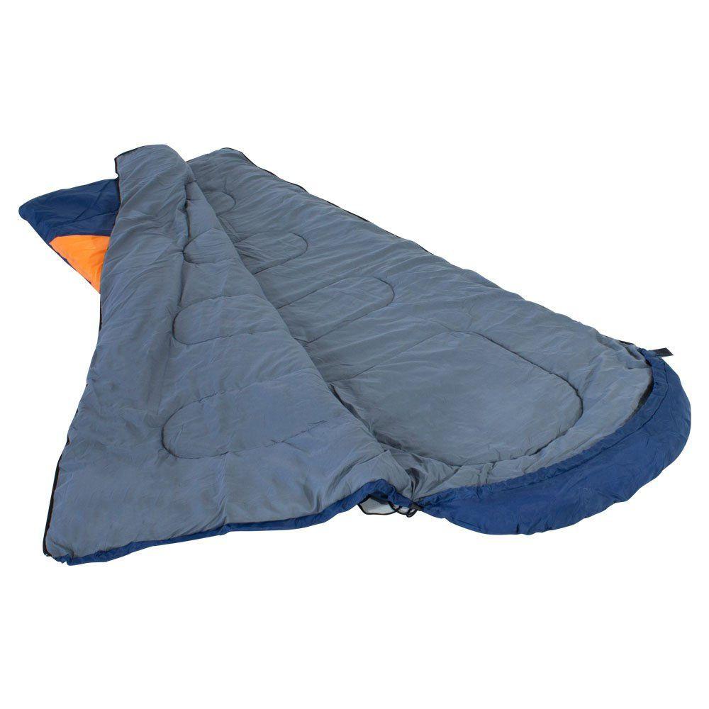 Saco de Dormir Tipo Misto -1,5°C à -3,5°C com Capuz Freedom Azul e Laranja Nautika