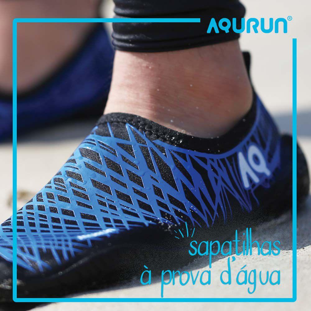 Sapatilha Aquática Infantil Esportiva Aqurun Azul 29 á 34