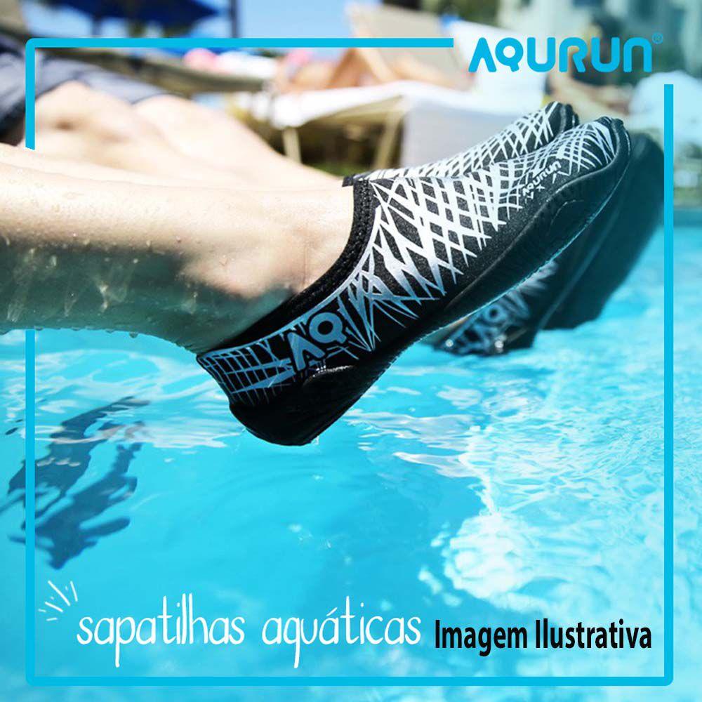 Sapatilha Aquática Infantil Esportiva Aqurun Preto 29 á 34