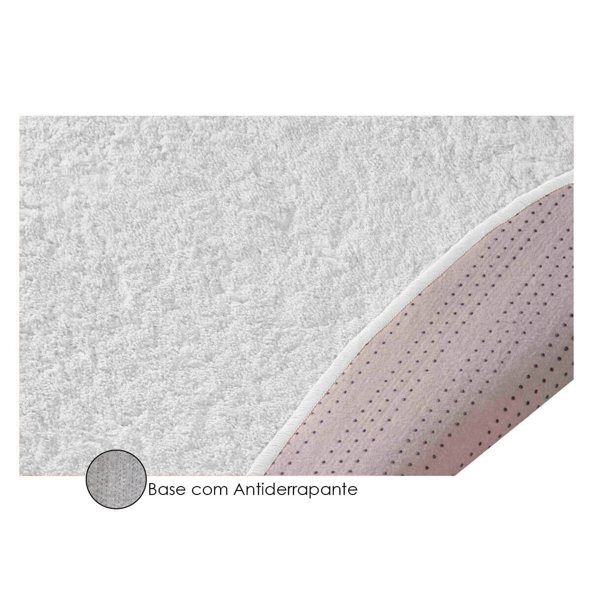 Tapete Branco Redondo Sala Quarto 200 X 200m Classic Branco