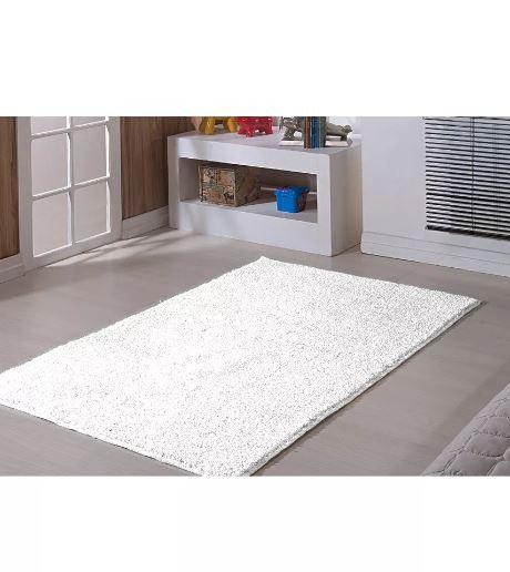 Tapete Branco Sala Quarto 200 X 250 Classic Branco