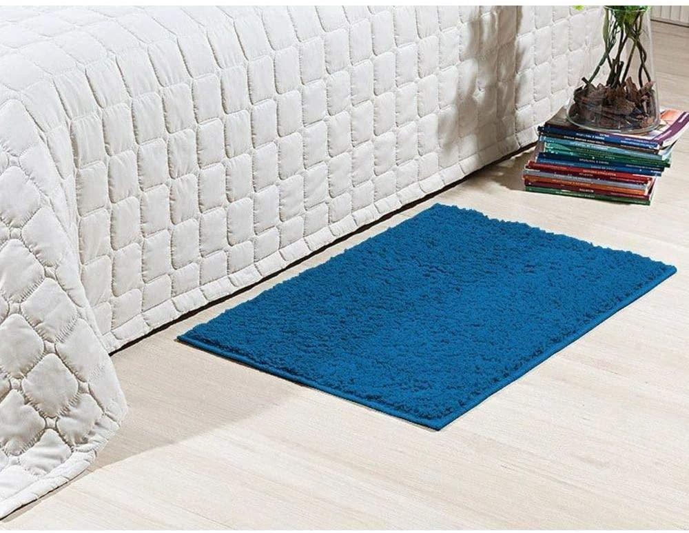 Tapete Para Quarto Passadeira 50 x 100 cm Classic Azul Jeans Oasis