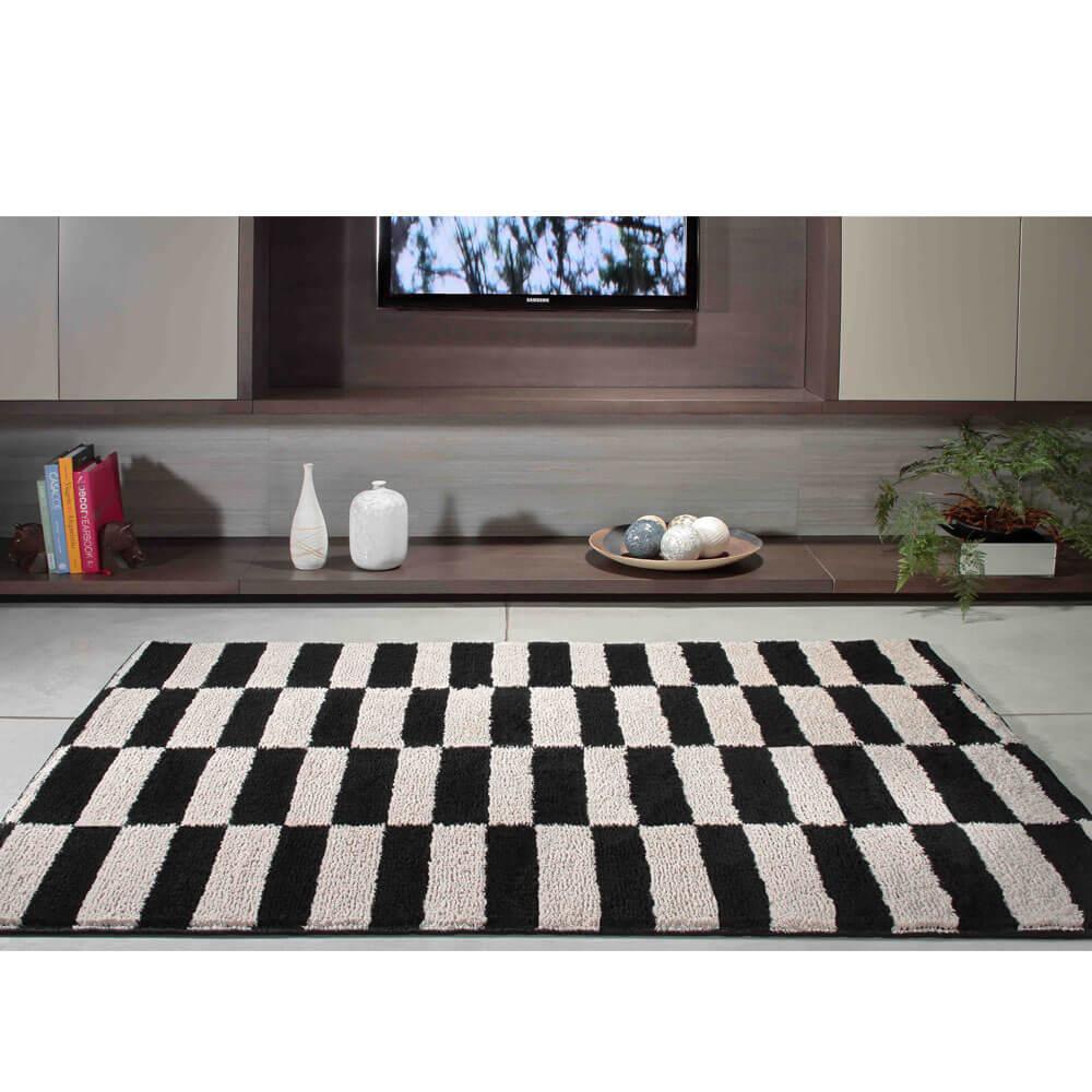 Tapete para Sala 100 x 150 cm Art Black e White Oasis