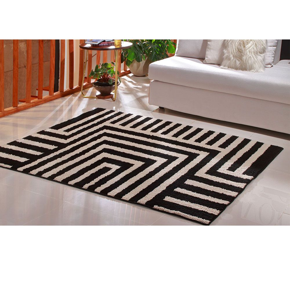 Tapete para Sala 150 x 200 cm Art Black e White Desenho 01 Oasis