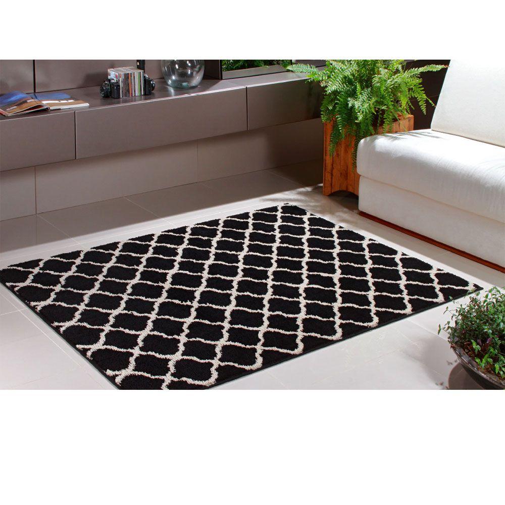 Tapete para Sala 150 x 200 cm Art Black e White Desenho 03 Oasis