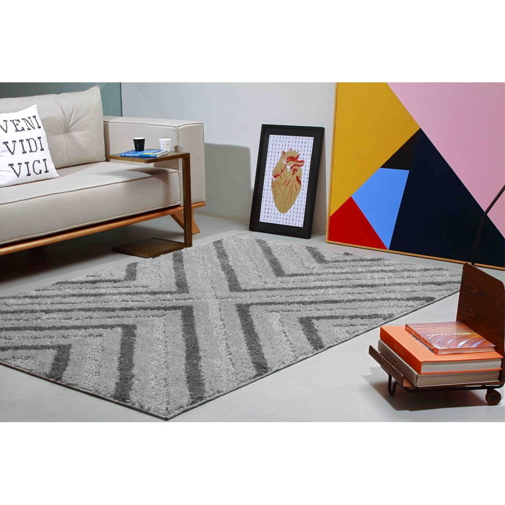 Tapete para Sala Jazz Alto e Baixo Relevo 100 x 150 cm