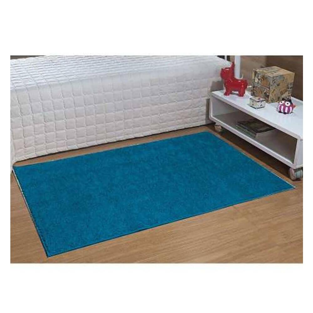 Tapete para Sala Passadeira Classic 0,50 x 1,00 m Azul Turmalina Oasis