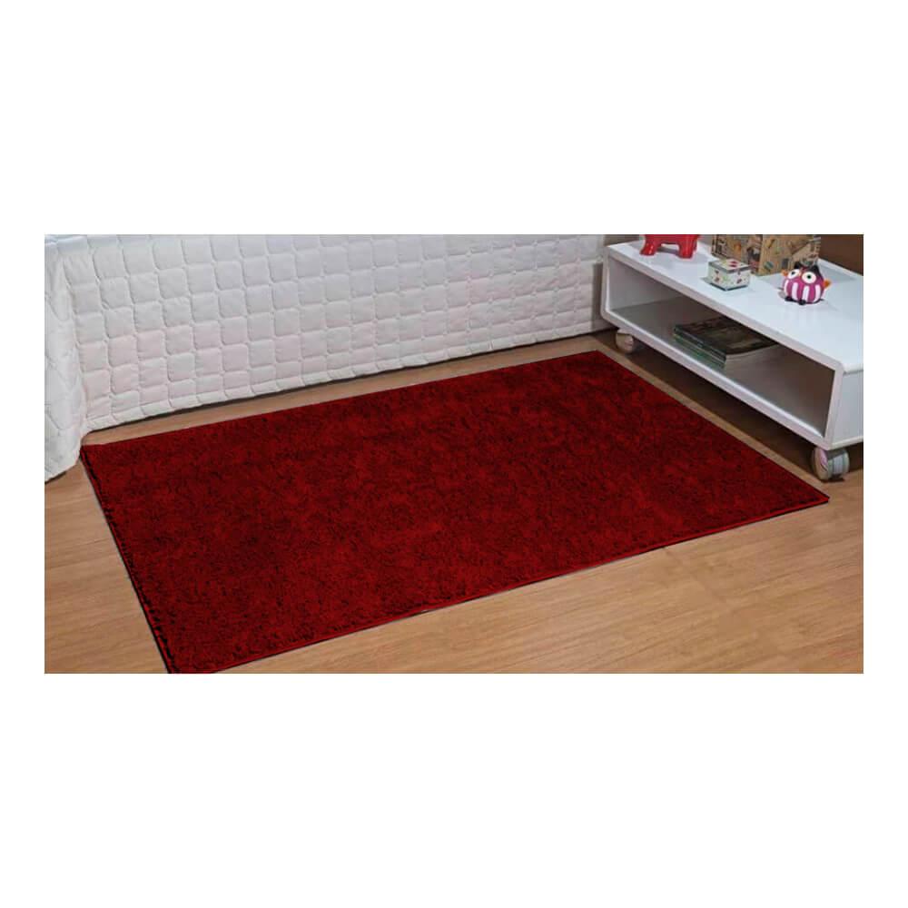 Tapete Passadeira  50 x 100 cm Classic Vermelho Cereja Oasis