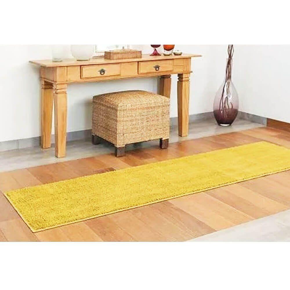 Tapete Passadeira Classic 50 x 180 cm Amarelo